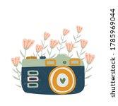 cartoon retro camera icon for...   Shutterstock .eps vector #1785969044