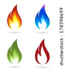 set of fire icons | Shutterstock .eps vector #178598699