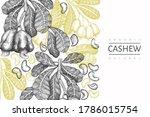 hand drawn sketch cashew design ... | Shutterstock .eps vector #1786015754