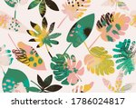 exotic abstract tropical...   Shutterstock .eps vector #1786024817