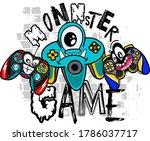 typography vector monster... | Shutterstock .eps vector #1786037717