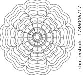 simple mandala shape for... | Shutterstock .eps vector #1786046717