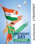 happy independence day india.... | Shutterstock .eps vector #1786049807