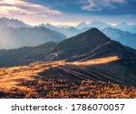 Beautiful Mountains At Sunset...