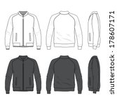 blank men's bomber jacket with...