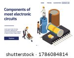 semiconductor production page... | Shutterstock .eps vector #1786084814