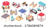 isometric garden furniture set...   Shutterstock .eps vector #1786084874