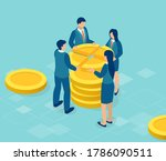 vector of business people share ... | Shutterstock .eps vector #1786090511