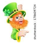 a leprechaun cartoon character... | Shutterstock . vector #178609724