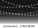 christmas lights design... | Shutterstock .eps vector #1786138184