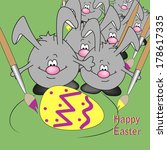background easter eggs colored... | Shutterstock .eps vector #178617335