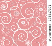 pattern with swirls of pink... | Shutterstock .eps vector #178617371
