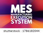 mes   manufacturing execution... | Shutterstock . vector #1786182044