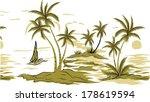 coconut palm tree. vector... | Shutterstock .eps vector #178619594
