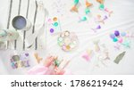 flat lay. step by step.... | Shutterstock . vector #1786219424