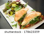 Sandwich And Vegetable Salad O...