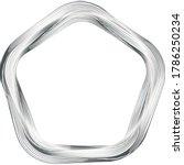 metal chrome frame polygon... | Shutterstock .eps vector #1786250234