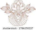 Zentangle Flower Mocha Color...