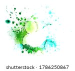 blue and green blots background.... | Shutterstock .eps vector #1786250867