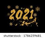 golden happy new year 2021 with ... | Shutterstock .eps vector #1786259681