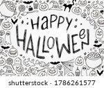 hand lettering halloween quote... | Shutterstock .eps vector #1786261577