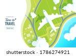 traveling on airplane vector...   Shutterstock .eps vector #1786274921