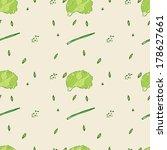 food pattern_vegie | Shutterstock .eps vector #178627661