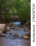 Small photo of Flowing creek through colorado springs