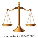 scales of justice is an... | Shutterstock . vector #178629305