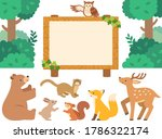 illustration set of forest... | Shutterstock .eps vector #1786322174