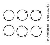 hand drawn doodle circular... | Shutterstock .eps vector #1786326767