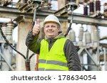 electrician in electrical... | Shutterstock . vector #178634054