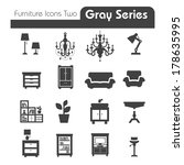 furniture icons gray series two | Shutterstock .eps vector #178635995