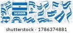 vector set of the national flag ... | Shutterstock .eps vector #1786374881