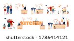 set of male and female... | Shutterstock .eps vector #1786414121