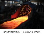 Red Hot Steel Metal Wire Rods...