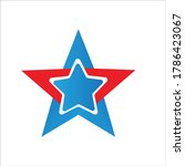 navigation and star icon ... | Shutterstock .eps vector #1786423067