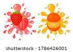 Juicy Cut Fruits With Pulpy...