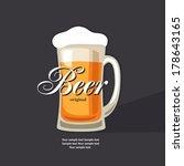 retro beer vector poster. | Shutterstock .eps vector #178643165