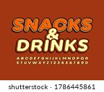 vector sign snack   drinks for... | Shutterstock .eps vector #1786445861