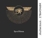 eye of horus  vector... | Shutterstock .eps vector #1786454684