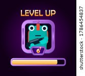 game ui level up character with ...