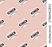 seamless pattern with old audio ... | Shutterstock .eps vector #1786461851