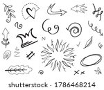 hand drawn set elements... | Shutterstock .eps vector #1786468214