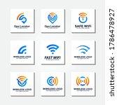 wireless signal logo template... | Shutterstock .eps vector #1786478927