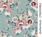 red and grey vector flowers... | Shutterstock .eps vector #1786502861
