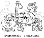black and white cartoon... | Shutterstock . vector #178650851