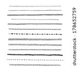 ink hand drawn line border set... | Shutterstock . vector #178652759