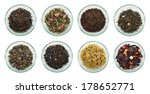assortment of dried tea leaves. ... | Shutterstock . vector #178652771