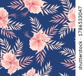 tropical floral seamless...   Shutterstock .eps vector #1786533047